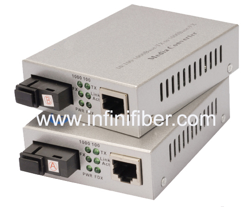 10 100 1000Base WDM Ethernet Media Converter