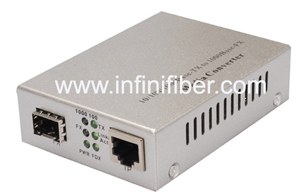 10 100 1000M SFP Fiber Optic Media Converter